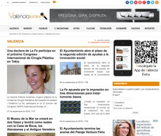 Portada de Valencia Extra con la noticia sobre la conferencia de la Dra. Gutiérrez en el congreso de la ISAPS