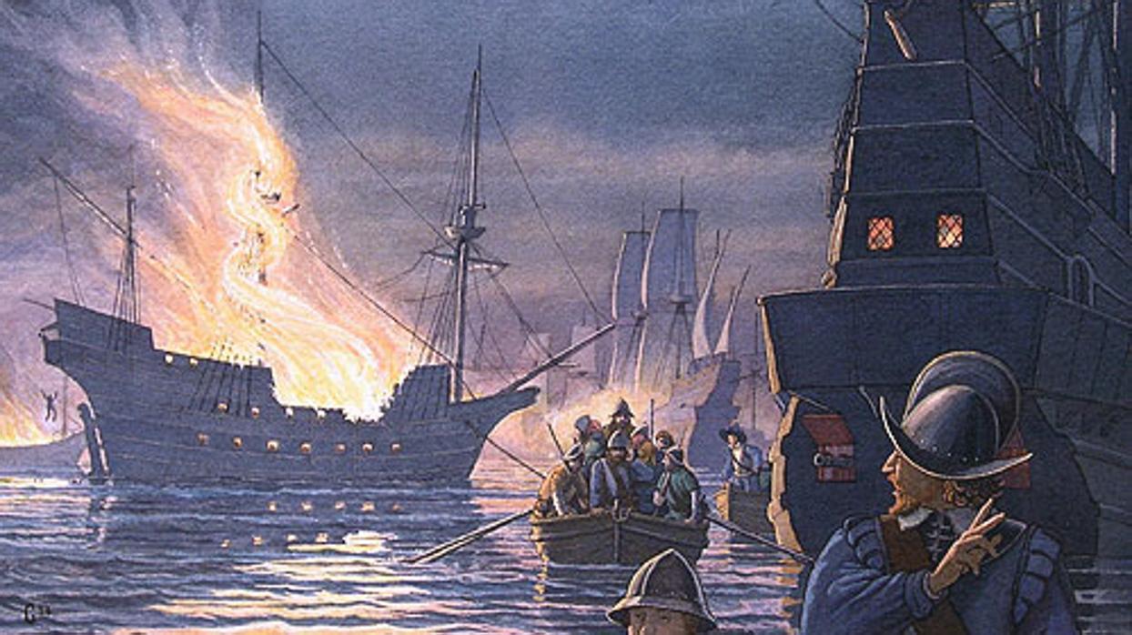 Al descubierto el primer barco que hundió el pirata Francis Drake en Cádiz