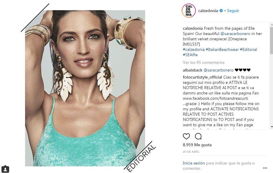 Sara Carbonero o la foto más atrevida con la falda más corta   Instagram