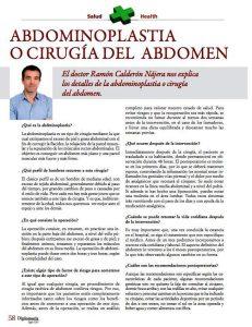 Artículo completo sobre abdominoplastia
