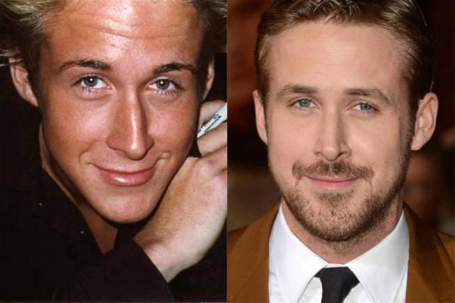 Ryan Gosling antes y después.